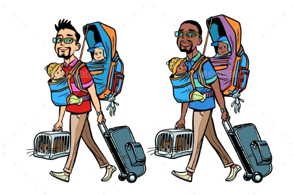 Father Travelers - People Characters