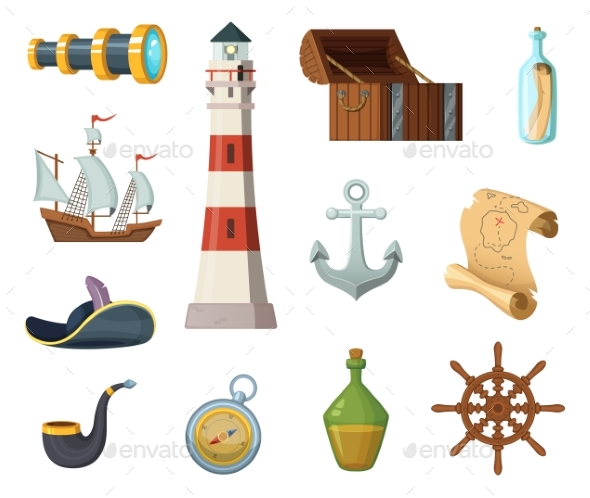 Marine Vector Objects - Man-made Objects Objects