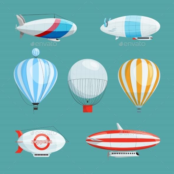 Zeppelins - Miscellaneous Vectors