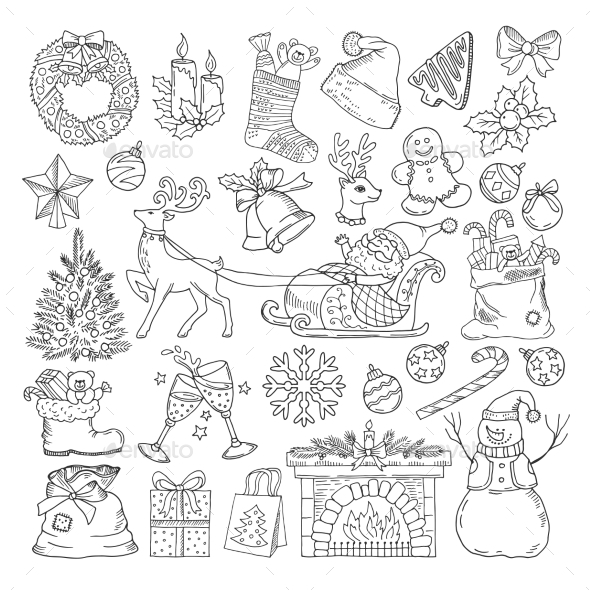 Different Winter Holidays Objects - Christmas Seasons/Holidays