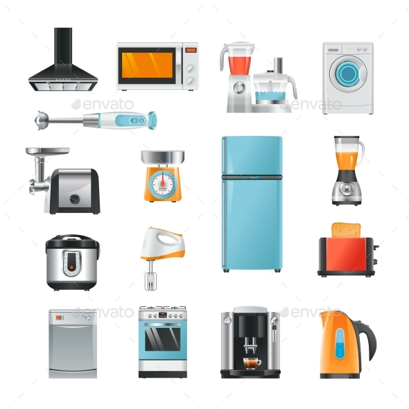 Different Household in Cartoon Style - Man-made Objects Objects