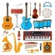 Bongo, Drums, Guitar and Other Musical Instruments