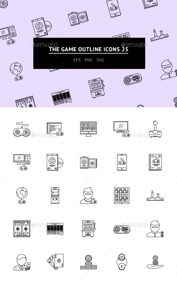 The Game Outline Icons 25 - Web Icons