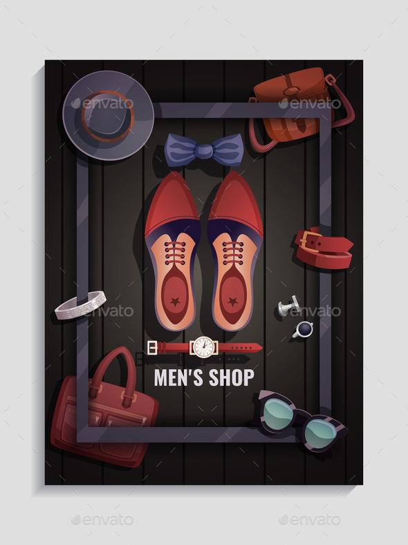 Men Accessories Poster - Miscellaneous Vectors