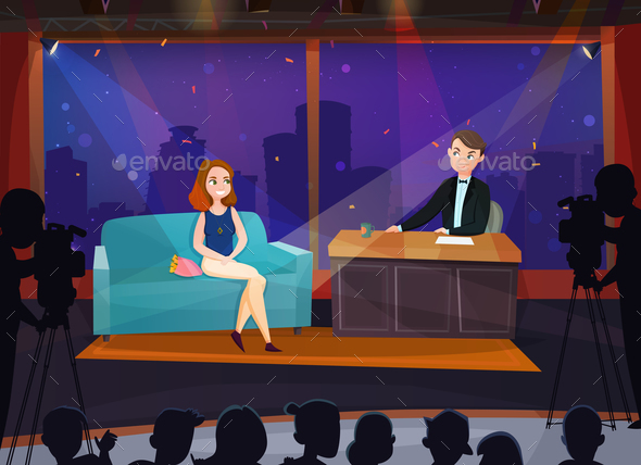 Talk Show Illustration - People Characters