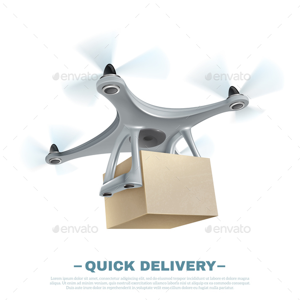 Realistic Delivery Drone - Computers Technology