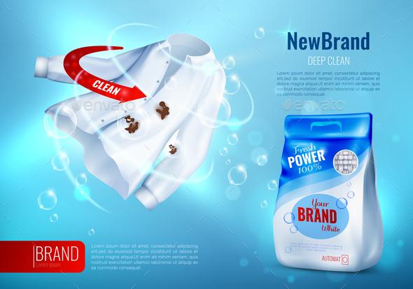 Laundry Detergent AD Poster - Miscellaneous Vectors