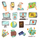 Online Booking Service Icons Set