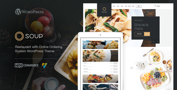 Image of Soup - Restaurant with Online Ordering System WP Theme