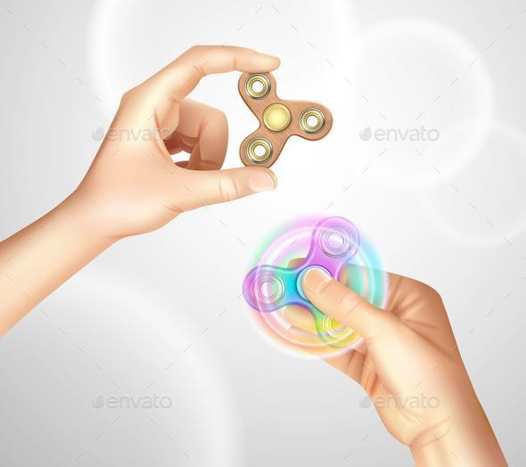 Finger Spinner Fidget Hand Realistic - Backgrounds Decorative