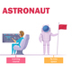 Astronaut Training Cartoon Characters Set
