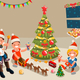 Christmas Party with Winter Family Characters - GraphicRiver Item for Sale