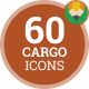 Icons Pack Cargo Warehouse Delivery Logistic Shipping Flat Animated Icons - VideoHive Item for Sale