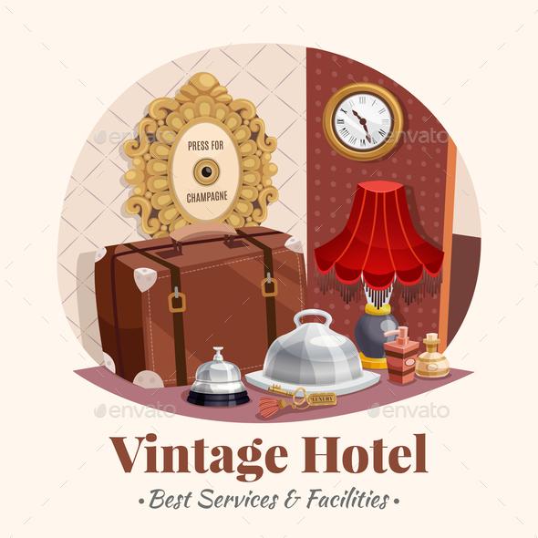 Vintage Hotel Composition - Miscellaneous Vectors