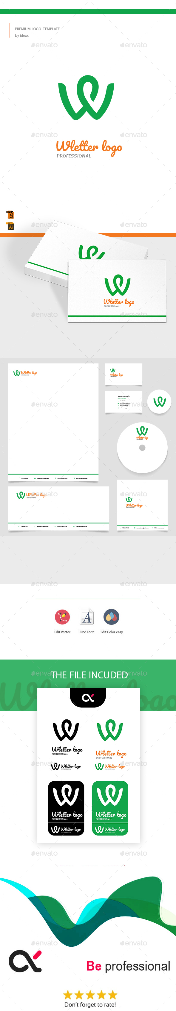 W Logo - Letters Logo Templates