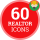 Icons Pack Accommodation Construction Realtor Flat Animated Icons
