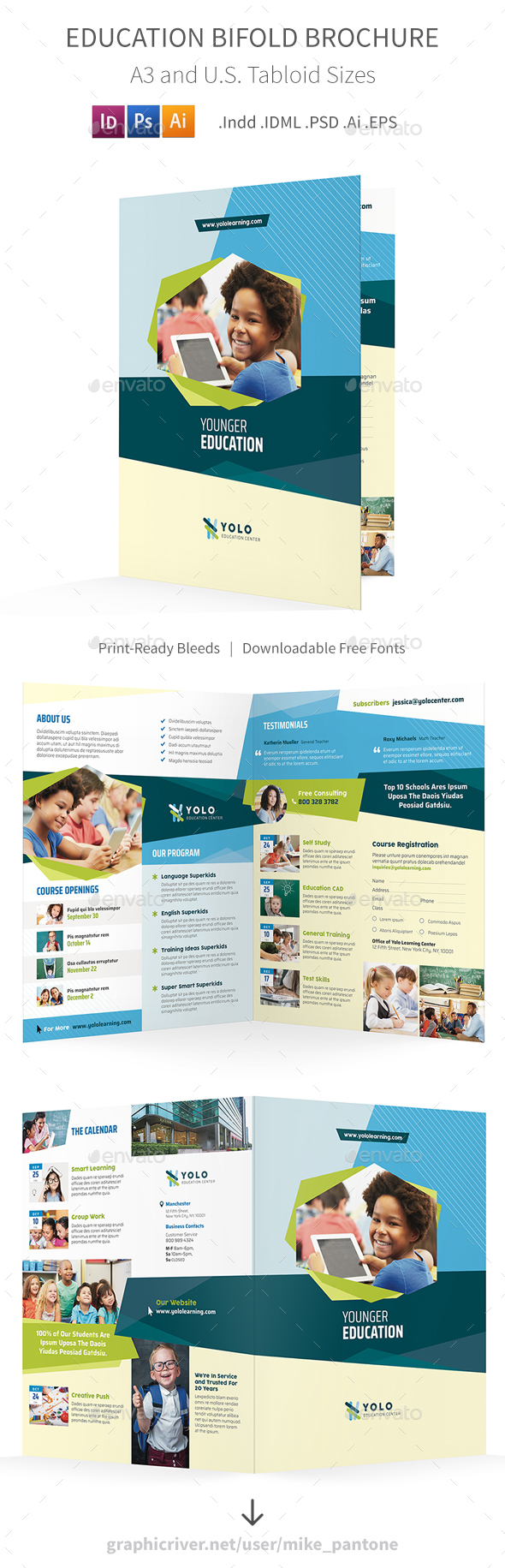 Education Bifold / Halffold Brochure 10 - Informational Brochures