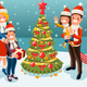 Christmas Tree at Winter Family Holidays - GraphicRiver Item for Sale