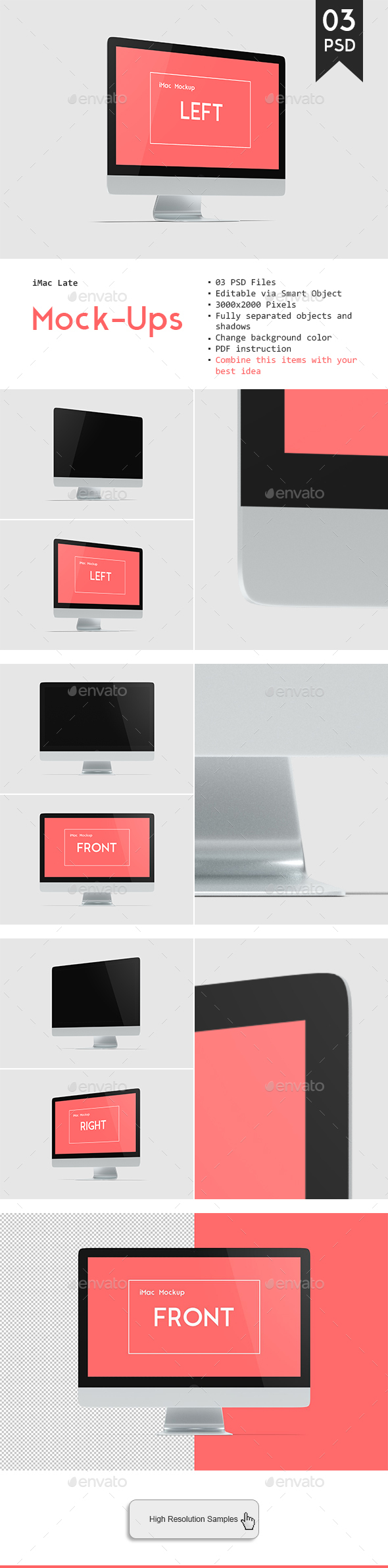 Desktop Mockup - Monitors Displays