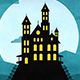 Happy Halloween Forest Mountain Castle Bats - VideoHive Item for Sale