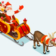 Clip Art of Santa Sleigh Vector Illustration - GraphicRiver Item for Sale