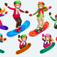 Icons of Isolated Snowboard Jump Clip Art - GraphicRiver Item for Sale