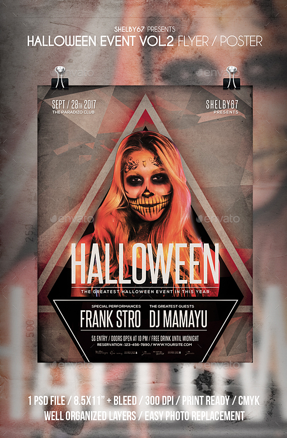 Halloween Event Flyer / Poster Vol 2 - Events Flyers