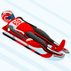 Sled Race Male Luge Winter Sports