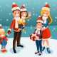 Snow Night for a Winter Family Vector - GraphicRiver Item for Sale