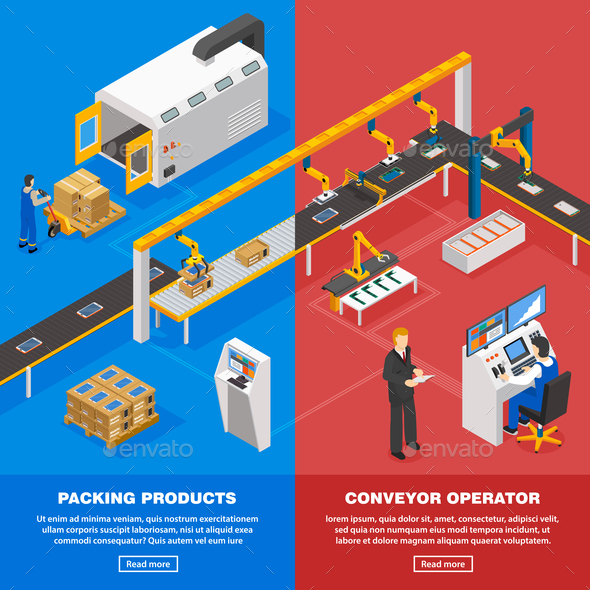 Conveyor Line Banners Set - Concepts Business