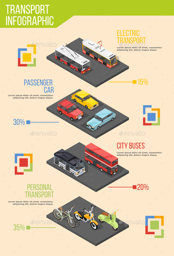 Urban Transportation Infographic Poster - Business Conceptual