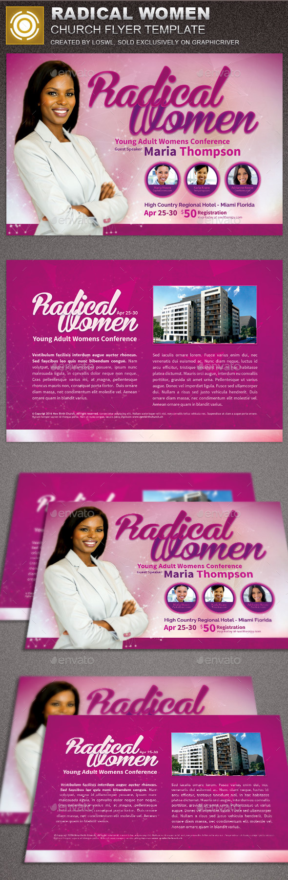 Radical Women Church Flyer Template - Church Flyers