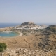 Aerial View of Ancient Acropolis and Village of Lindos - VideoHive Item for Sale