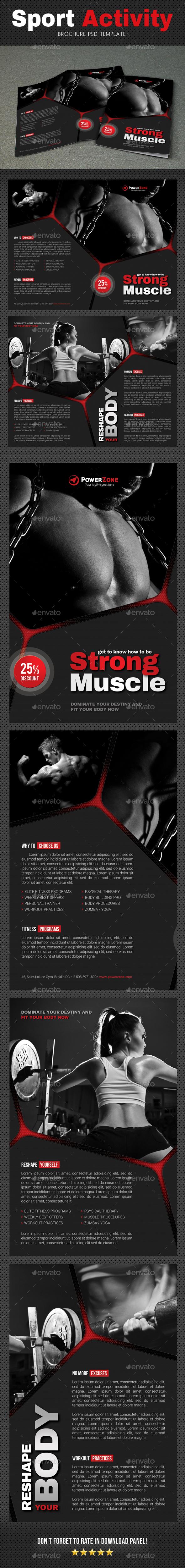 Sport Activity Brochure 5 - Brochures Print Templates