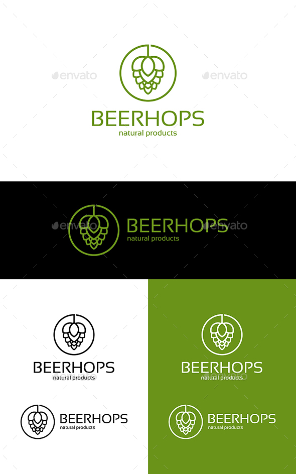 Beer Hops - Nature Logo Templates
