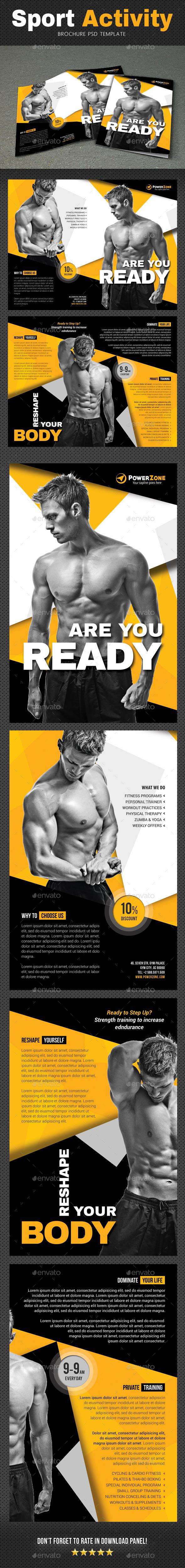 Sport Activity Brochure 6 - Brochures Print Templates