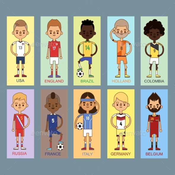 National Euro Cup Soccer Football Teams Vector - Sports/Activity Conceptual
