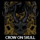 Crow On Skull T-shirt Design - GraphicRiver Item for Sale