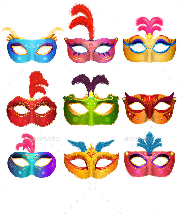 Venetian Handmade Carnival Masks - Man-made Objects Objects