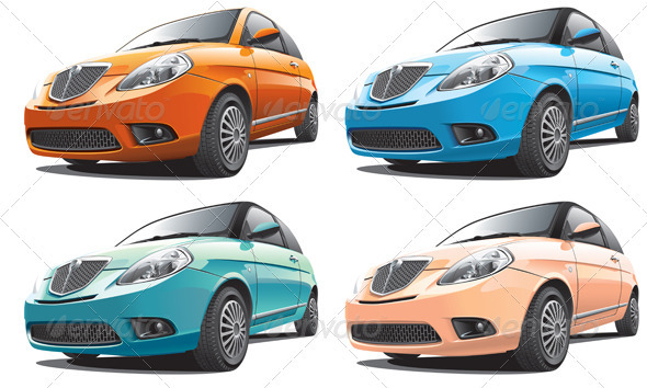 Small Modern Car No1 - Objects Vectors