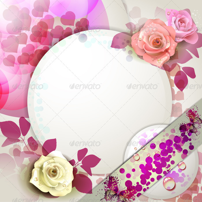 Background with Roses - Backgrounds Decorative