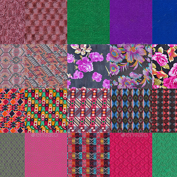 50 Tileable Fabric Texture Pack - 3DOcean Item for Sale