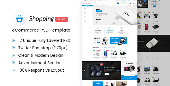 Shopping Store eCommerce PSD Template