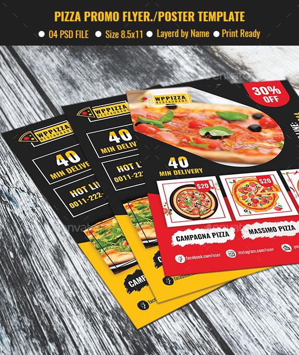 Pizza Promo Flyer/Poster - Restaurant Flyers