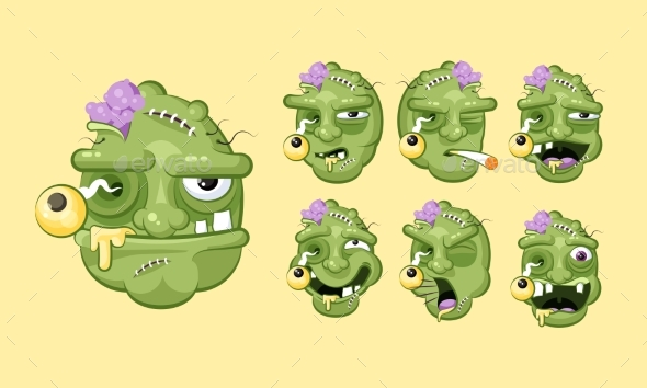 Zombie Faces - Halloween Seasons/Holidays