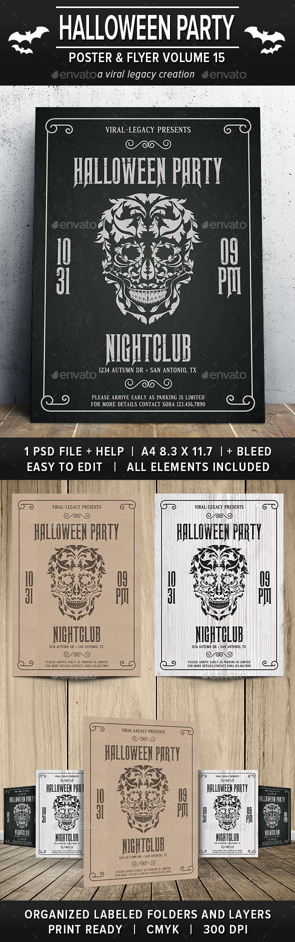 Halloween Party Poster / Flyer V15 - Events Flyers