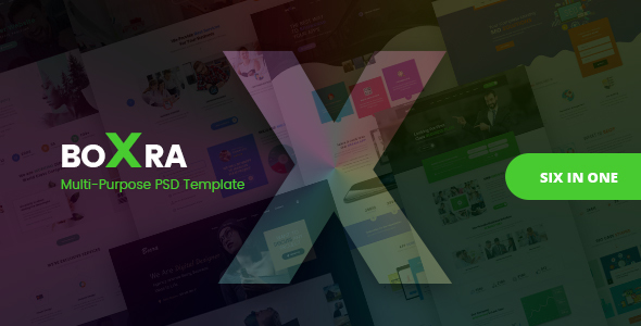 Boxra - Multipurpose PSD Template