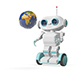 3D Animation Robot with Globe on Scooter - VideoHive Item for Sale