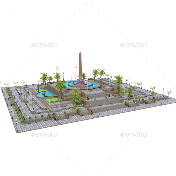 Plaza - Architecture 3D Renders