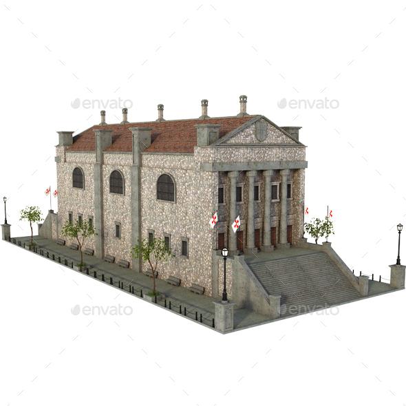 Medieval Building - Architecture 3D Renders